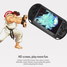 -New Arrival 5.0 Inch Large Screen Handheld Game Player Support TV Out Put With MP3/Movie Camera Multimedia Video Game Console on JD