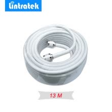 -N male RG6 Coaxial Cable white 13 meters Cables for Connecting Signal Repeater Booster and Indoor Outdoor Antennas Cables on JD