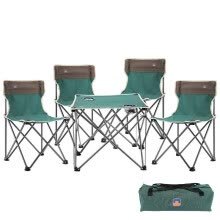 -Outdoor chair and table set Leisure beach folding table and chair camping furniture five-piece suit on JD