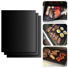 8750201-2pcs/lot 0.2mm Thick ptfe Barbecue Grill Mat 33*40cm non-stick Reusable BBQ Grill Mats Sheet Grill Foil BBQ Liner on JD