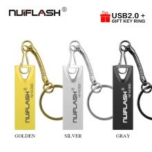 -usb flash drive 64GB 32GB 16GB 8GB 4GB pen drive pendrive waterproof metal silver u disk memoria cel usb stick gift KEY RING on JD