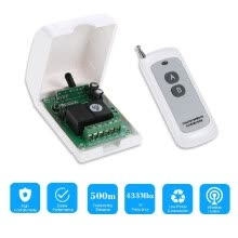 -Smart Home 433Mhz RF DC 12V 2CH Learning Code Wireless Remote Control Switch Relay Receiver Transmitter Universal Remote Switch Sy on JD