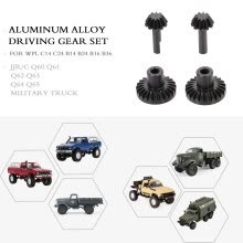 -Aluminum Alloy Driving Gear set for WPL C14 C24 B14 B24 B16 B36 JJR/C Q60 Q61 Q62 Q63 Q64 Q65 RC Truck Military Truck Car on JD