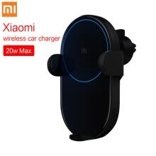 -In Stock! Xiaomi Mi 20W Wireless Car Charger 2.5D Glass Electric Auto Pinch Ring Lit Charging for Xiaomi Mi Smartphone iPhone on JD