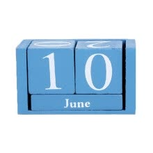 -Wooden Calendar Home Decoration Ornaments Living Room Desktop Display Perpetual Calendar Photography Props on JD