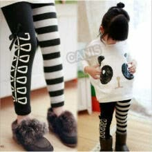 girls-sportswear-US Kids Baby Girls Outfits Long Sleeve Cute Panda Tops+Striped Pants 2Pcs Sets on JD