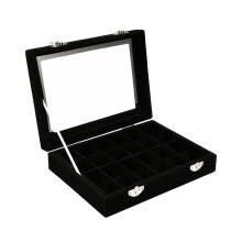 -24 Grids  Velvet Jewelry Box Rings Earrings Necklaces Makeup Holder Case Organizer Women Jewelery Storage on JD