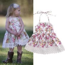 -Princess Baby Kids Girl Backless Lace Floral Dress Wedding Party Formal Dresses on JD