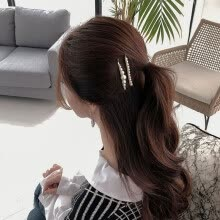 -Fashion 1Set Metal Pearl Hairpin Combination Women Simple Sweet Style Bangs Clip Ins Popular Hairpin Hair Accessories Set on JD