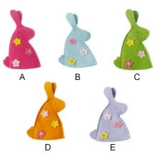 -Easter Bunny Rabbit Shaped Flowers Egg Covers Lovely Easter Cartoon Portable Gift Egg Bags for home decor on JD