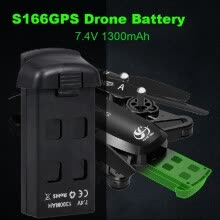 -CSJ 7.4V 1300mAh Drone Battery for S166GPS RC Quadcopter on JD