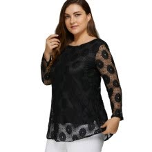 -Flower Print Floral Pattern Tie Lace Up Women's Shirt Female Tops Tee Tunic Shirts Plus Size 4XL 5XL Loose Casual Clothing on JD