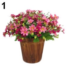 -1 Bouquet 28 Heads Artificial Fake Cute Daisy Flower Home Wedding Garden Decor on JD
