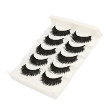 -Nomeni Big sale! 5 Pair Fashion Natural Handmade Long False Black Eyelashes Makeup on JD