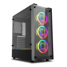 -darkFlash Skywalker ATX Mid Tower Gaming Case with 2 Side Tempered Glass Panel on JD