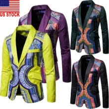 -NEW Mens Suit Blazer Floral Formal Coat Jacket Weeding Party Casual Tuxedo Tops on JD