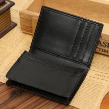 -2018 New Style Fashion Men's PU Leather Solid Wallet Purse Business Money Card Holder Black Short Mini Wallets on JD