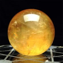 -Gobestart 1pcs 40mm Natural Citrine Quartz Crystal Sphere Ball Healing Gemstone on JD