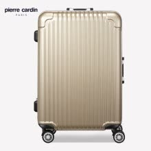 -Pier Cardin (PIERRE CARDIN) 20-inch aluminum frame trolley case business travel suitcase luggage scratch-resistant password box men and women mute caster strong anti-drop champagne gold on JD