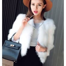 fur-2018 New Faux Fur Coat Thicken Warm Outwear Women Winter New Fur Jacket Coat Long Sleeve White Black Plus Size 3XL on JD