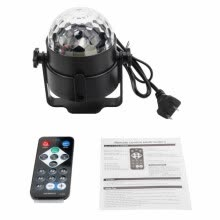 -2-Pack Party Disco Ball Projector Light 3w Led Strobe Lamp with Remote Control Sound Activated Stage Lighting on JD