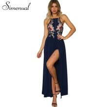 -Casual Print Backless A-Line Women Dress Flower Sleeveless Halter Maxi Women Dresses Floor-Length Beach Women Clothes 2018 on JD