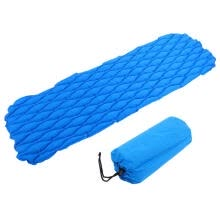 -Greensen Outdoor Inflatable Folding Air Mattress Sleeping Pad Cushion Bed Single Person Camping Mat  on JD