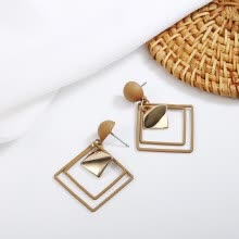 -Geometric Square Drop Earrings for Women Fashion Jewelry boucle d'oreille femme pendientes mujer moda 2019 brincos oorbellen on JD