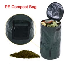 -Compost Bag,2 Sizes Organic Waste Kitchen Garden Yard Compost Bag Environmental PE Cloth Planter PE Compost Bag on JD