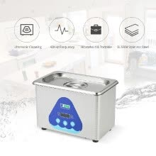 -0.8L Stainless Steel Household Digital Ultrasonic Cleaner Tank Jewelry Watches Circuit Board Cleaning Sterilizing Machine AC220-24 on JD
