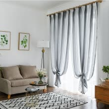 curtains-window-treatments-NeillieN window screening, Nordic Wind Simple Stripe window gauze, Transparent window gauze Wholesale,gauze for screening windows on JD