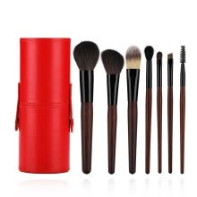 -Hot sale makeup brush set full set of beginners 7 animal hair full set of makeup brush beauty tools on JD
