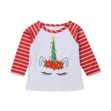 -Christmas  Kids Boy Girls Fashion Cartoon Aniaml Deer Printed Crew Neck T-Shirts Shirts & Tops Clothing Tee on JD
