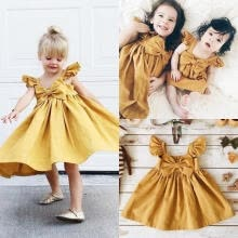-Casual Cotton Baby Girls Toddler Infant Girl Bowknot Dress Party Wedding Tutu Dresses on JD