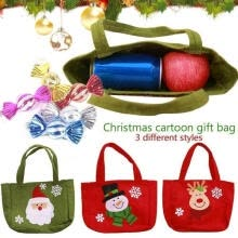 -Snowman Candy Gift Bags Handbag Merry Christmas Storage Package Santa Claus Bag on JD