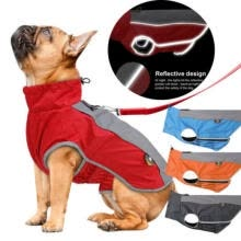 -US Windproof Pet Dog Jacket Outdoor Large Rain Coat Reflective Safe Warm Outfits on JD