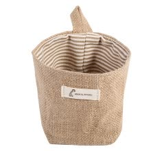 -Cotton Linen Hamper Hanging Clothes Bag Home Gadget Storage Organizer Foldable Basket Bin,Cotton Linen Bag on JD