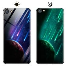 -MOONCASE Oppo A37 Dream Series Luminous Glass Case - Doomsday Meteor on JD