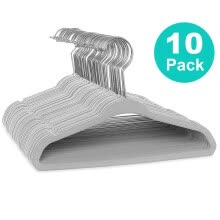 -〖Follure〗10/20/30 Pack Non-Slip Velvet Kids Hangers For Jackets, Pants, & Dress Clothes on JD