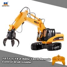 -HUI NA TOYS 1571 1/14 2.4Ghz 16CH Remote Control Grab Loader Grapple Tractor Truck Construction Vehicle Engineering Toys on JD