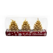 -Christmas supplies hotel restaurant scene layout Christmas decorations Christmas candles (will not fall out!) Pinecone (3 packs) on JD