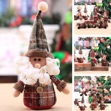 -Christmas Santa Claus Snowman Elk Toy Doll Xmas Tree Hanging Home Decor Kid Gift on JD