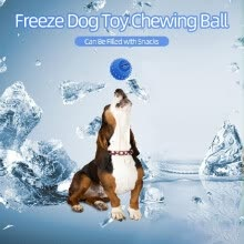 -Freeze Cooling Teether Dog Toy Chewing Ball Teething Snack Frozen Summer Training Toy for Dogs Puppy on JD