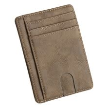 -Gobestart New Men's Leather Wallet Thin Credit Card Holder ID Case Purse Bag on JD