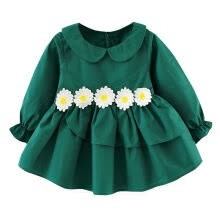 -Spring Casual Toddler Girls Cotton Long-sleeved Dresses Baby Princess Dresses 2019 New Fashion Baby Clothing Outfit 0-3Y on JD