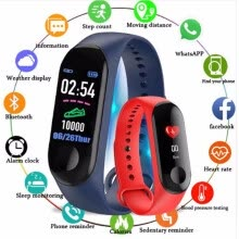 -M3 Smart Bracelet Color-screen IP68 Fitness Tracker blood pressure Heart Rate Monitor Smart band Smart Watch For Android IOS on JD