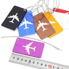 -Greensen 7pcs/set Aluminium Alloy Travel Luggage Bag Tags Identifier Tags Travel Labels Accessories  on JD