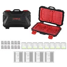 -LYNCA KH 10 Water-resistant CF/SD/SDHC/TF/MSD Memory Card Case Box Keeper Carrying Holder Storage Organizer 24 Slots for Sandisk T on JD