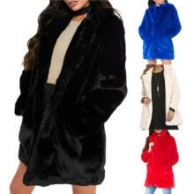 -Women Winter Faux Fur Fashion Jacket Cardigan Sweatshirt Long Warm Coat Outwear on JD
