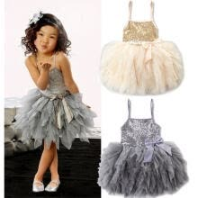 -Princess Kids Girls Dresses Lace Bowknot Sequins Tulle Tutu Dress Wedding Party on JD